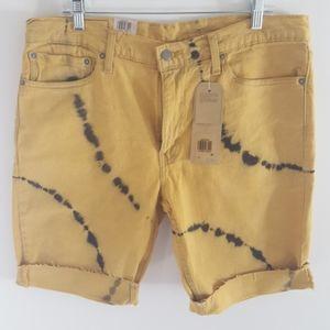 Levi's 511 slim shorts stretch cotton blend sz 36